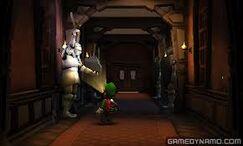 Luigi und Ritterrüstung