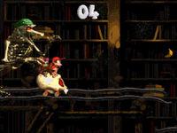 DKC2 Screenshot Spukhalle
