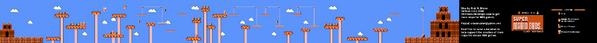 SMB World 4-3 NES level map