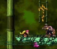 DKC2 Screenshot Kletterschleim