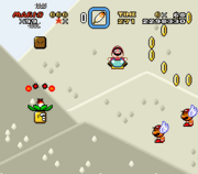 Mario Ballon dans Super Mario World