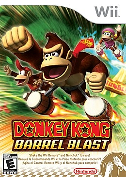 Donkey Kong Barrel Blast Box