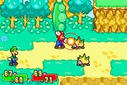 Mario usando mano de fuego en un spiny judia