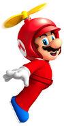 NSMBW Artwork Propeller-Mario
