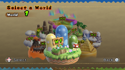 World Select - New Super Mario Bros. Wii