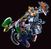 LM3 Artwork Luigi und König Spuk
