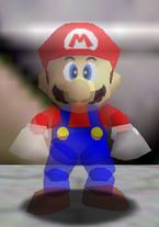 Mario Invisible dans Super Mario 64