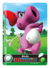 Carte amiibo Birdo golf