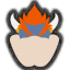 Icône Bowser gris Ultimate