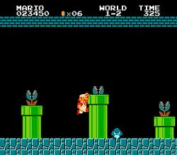 World 1-2 (Piranha Plants, Super Mario Bros.)