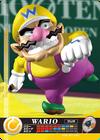 Carte amiibo Wario tennis