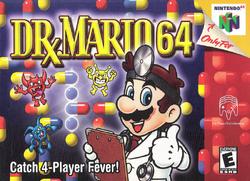 Dr. Mario 64 - North American boxart