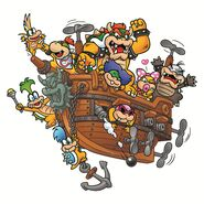 Koopalings Airship Artwork