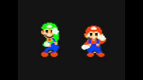 Mario and Luigi dancing for ten minutes.