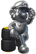 Metal Mario Artwork 2 - Mario Kart 7