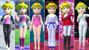 Mario & Sonic at the Olympic Games Tokyo 2020 - All Peach Outfits