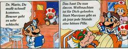 Süße Weihnachten (Dr. Mario donnant des médicaments à Bowser)