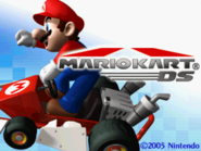 Title Screen - Mario Kart DS
