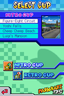 Image Selecting A Cup Mario Kart Ds Prototype Png Mariowiki