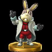 Trofeo de Peppy Hare SSB4 (Wii U)