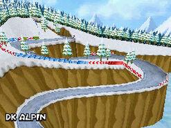 MKDS Screenshot DK Alpin