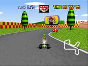 Mario Raceway - Original Tree Appearance - Mario Kart 64