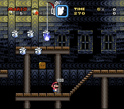 SMW Screenshot Schoko-Spukhaus
