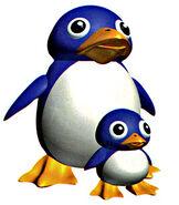 SuperMario64 Mamá Pingüino y Tuxie