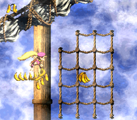 DKC2 Screenshot Schlotter-Mast