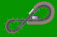 MKDS Figure-8 Circuit track map