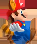 Raccoon Mario glide NSMB2