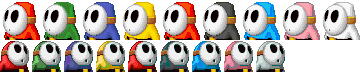 MKDS-Shy Guy Colors
