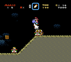 SMW Screenshot Schoko-Rätsel