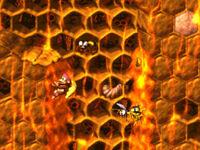 DKC2 Screenshot Wespenfalle