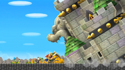 New Super Mario Bros Wii Castillo sobre Bowser