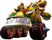 Bowser and Bowser Jr - Mario Kart Double Dash