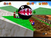 SM64 Screenshot Riesen-Kettenhund