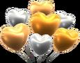 MKT Sprite Silber-Gold-Herzballons