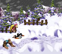 DKC3 Screenshot Lemguins Frost-Flitzer