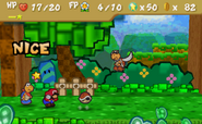 Usage of the Action Command (Paper Mario)