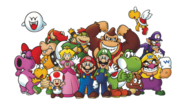 Club Nintendo Mario Characters Artwork