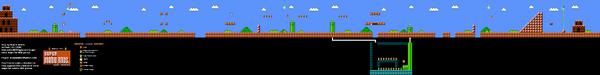 SMB World 4-1 NES level map