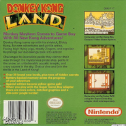 Back Cover - Donkey Kong Land - North America