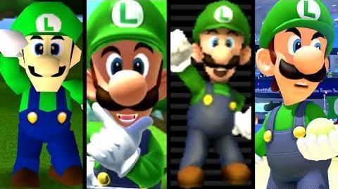 Super Mario Evolution of LUIGI'S VOICE 1997-2017 (N64 to Switch)