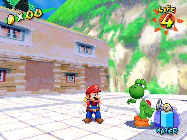 Sper Mario Sunshine Yoshi
