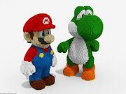 Mario y Yoshi en peluche