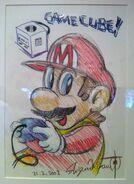 Марио и GCN - рисунок Сигэру Миямото