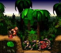DKC Screenshot Kanonen-Canyon