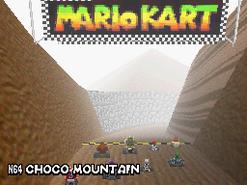 MKDS Screenshot Schoko-Sumpf