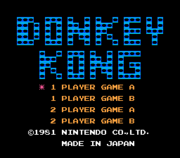 Title Screen - NES - Donkey Kong